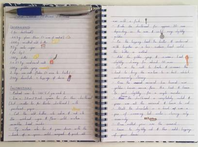 notebook millionaire shortbread