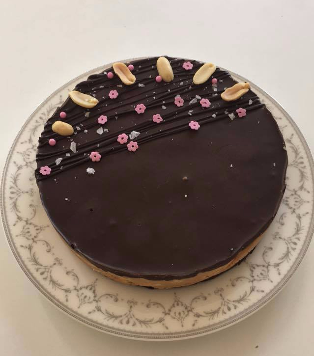 Chocolate peanut butterslice