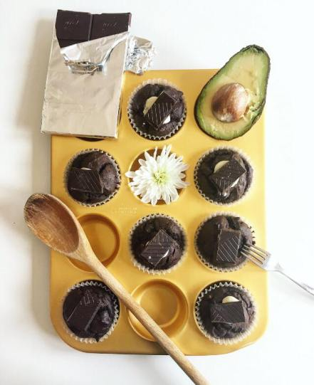 chocolate avocado cupcakes 2