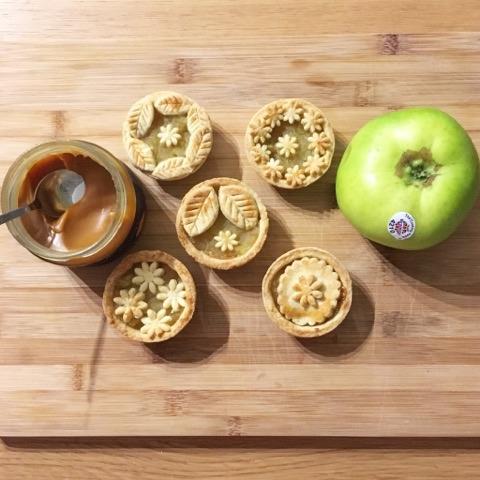 Mini Salted Caramel ApplePies